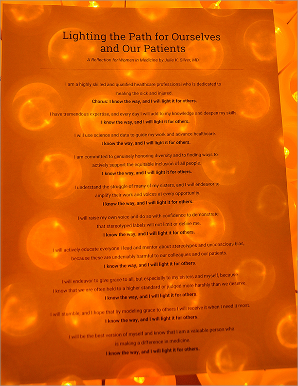 Lighting the Path for Ourselves and Our Patients